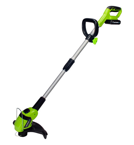 Earthwise 10 in. 20-Volt Lithium-Ion Cordless String Trimmer - 2 Ah Battery and Charger Included