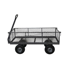 FORZA 800 lbs. Capacity Garden Steel Cart with 10 in. x 3 in. Flat Free Tires