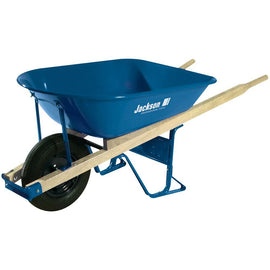 Jackson 5 cu. ft. Heavy Gauge Seamless Steel Wheelbarrow