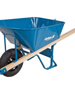 Jackson 6 cu. ft. Heavy Gauge Folded Steel Wheelbarrow