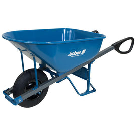 Jackson 6 cu. ft. Seamless Steel Wheelbarrow with Total Control Handles