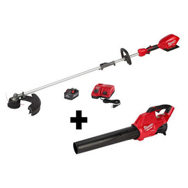 Milwaukee M18 FUEL 18-Volt Lithium-Ion Brushless Cordless String Trimmer Kit w/ QUIK-LOK Attachment Capability and M18 FUEL Blower