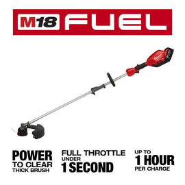 Milwaukee M18 FUEL 18-Volt Lithium-Ion Cordless Brushless String Grass Trimmer W/ Attachment Capability W/ M18 5.0Ah Battery
