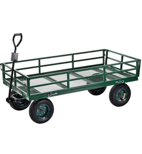 Muscle Rack 10 cu. ft. 31 in. W Industrial Strength Mesh Wire Utility Cart with Removable Sides, 1400 lb capacity