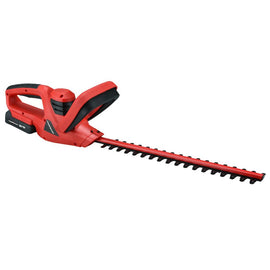 PowerSmart 18-Volt Lithium-Ion Cordless Handheld Hedge Trimmer 1.5 Ah Battery and Charger Included