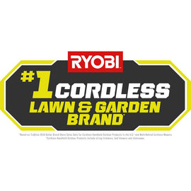 RYOBI 110 MPH 500 CFM 40-Volt Li-Ion Cordless Jet Fan Leaf Blower and 24 in Hedge Trimmer 4.0 Ah Battery and Charger Included