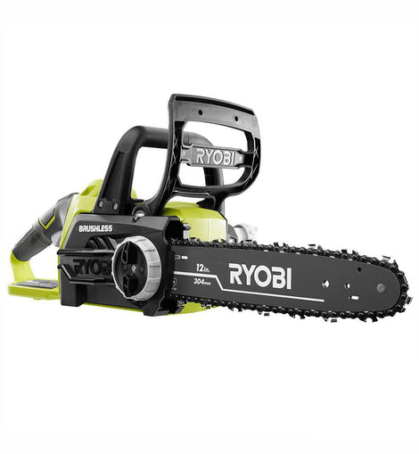 RYOBI ONE+ 12 in. 18-Volt Brushless Lithium-Ion Electric Cordless Battery Chainsaw (Tool-Only)