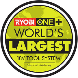RYOBI Ryobi ONE+ 18-Volt Lithium-Ion Cordless Trimmer/Blower/Hammer Drill Combo (3-Tool) -4.0 Ah Battery and Charger Included