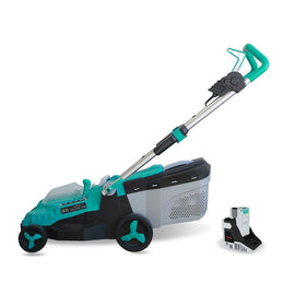 Realm 14 in. 40-Volt Brushless Lithium-Ion Cordless Battery Walk Behind Push Lawn Mower 4.0 Ah Battery/Charger Included