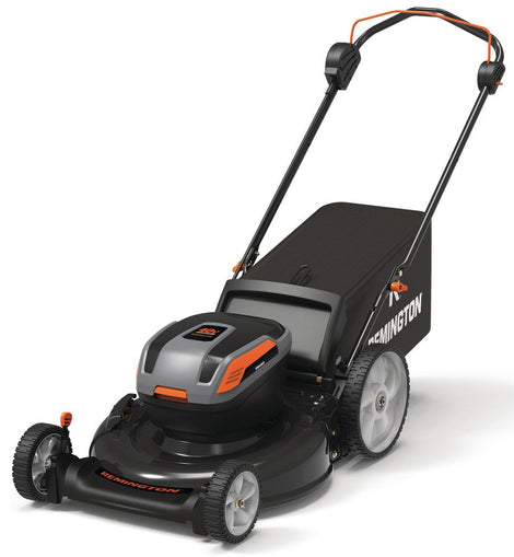Remington 21 in. 40-Volt Lithium-Ion 3-in-1 Cordless Walk Behind Push Mower - 5.0 Ah Battery/Charger Included