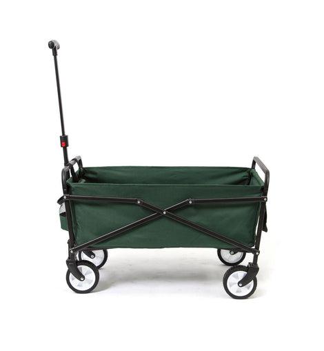 SEINA 150 lbs. Steel Frame Manual Folding Garden Cart Beach Wagon in Blue/Gray