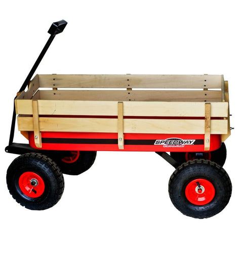 SPEEDWAY 200 lb. Capacity All-Terrain Wooden Racer Wagon