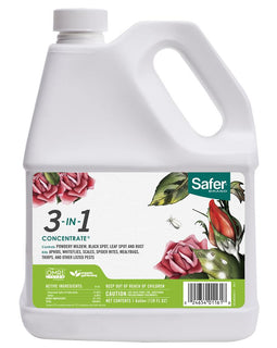 Safer Brand 1 Gal. 3-in-1 Garden Insect Killer and Fungicide Control Concentrate