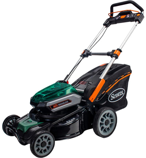 Scotts 19 in. 40-Volt Lithium-Ion Cordless Battery Walk Behind Push Mower with 5 Ah Battery and Charger Included