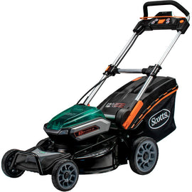 Scotts 21 in. 62-Volt Lithium-Ion Cordless Battery Walk Behind Push Mower with 5 Ah Battery and Charger Included