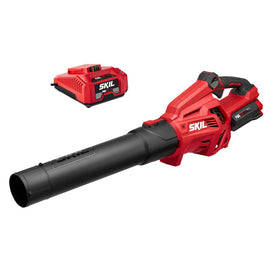 Skil PWR CORE 120 MPH 500 CFM 40V Lithium-Ion Brushless Cordless Electric Leaf Blower, 2.5Ah Battery and Charger Included