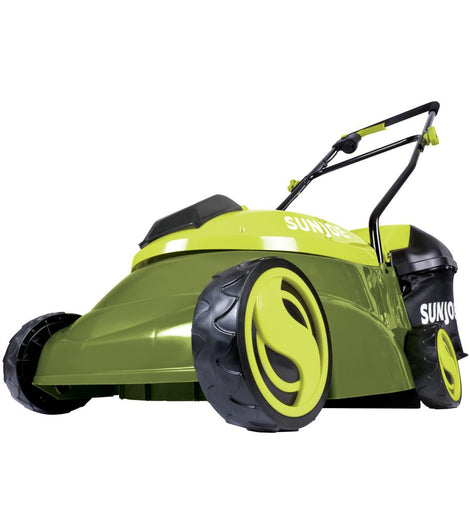 Sun Joe 14 in. 28-Volt Brushless Cordless Walk-Behind Push Mower Kit with 5.0 Ah Battery + Charger