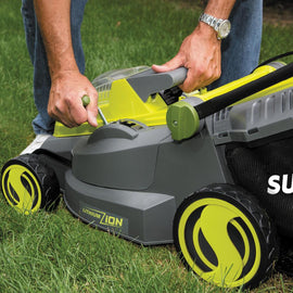 Sun Joe 16 in. 40-Volt Cordless Battery Walk Behind Push Mower Kit with 4.0 Ah Battery + Charger