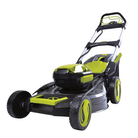 Sun Joe 21 in. 100-Volt Cordless Battery-Powered Walk-Behind Self Propelled Lawn Mower (Tool Only)