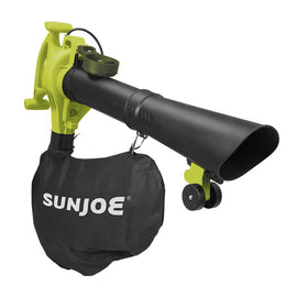 Sun Joe 250 MPH 440 CFM 14 Amp Electric Handheld Blower/Vacuum/Mulcher in Green