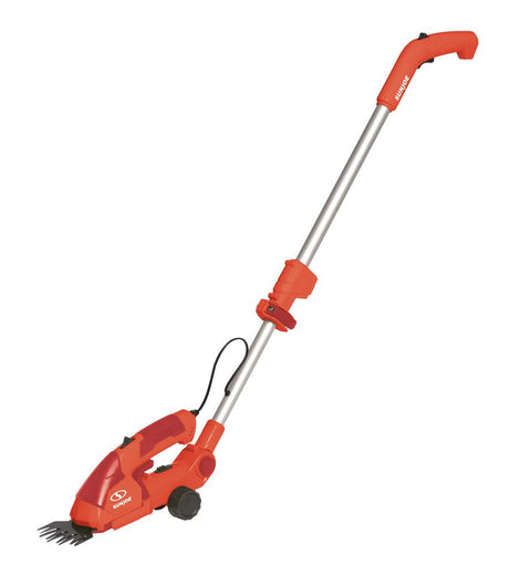 Sun Joe 7.2-Volt 2-in-1 Cordless Grass Shear and Hedge Trimmer with Extension Pole in Red