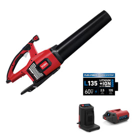 Toro 115 MPH 605 CFM 60-Volt Max Lithium-Ion Brushless Cordless Leaf Blower - 2.5 Ah Battery and Charger Included