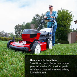 Toro 22 in. Recycler 60-Volt Max Lithium-Ion Cordless Battery Walk Behind Personal Pace Mower - Battery/Charger Not Included