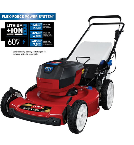 Toro 22 in. Recycler 60-Volt Max Lithium-Ion Cordless Battery Walk Behind Push Lawn Mower - Battery/Charger Not Included