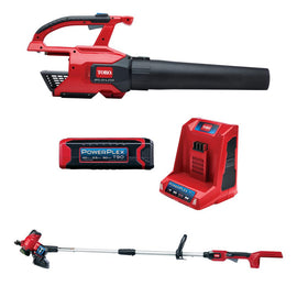 Toro PowerPlex 40-Volt Lithium-Ion Cordless Blower and Trimmer/Edger Combo Kit (2-Tool) - 2.5 Ah Battery and Charger lncluded