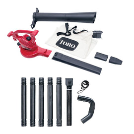 Toro Ultra 12 Amp Electric Leaf Blower/Vacuum/Mulcher and Gutter Cleaning Combo Kit