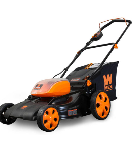 WEN 19 in. 40-Volt MAX Lithium-Ion Cordless Battery 3-in-1 Walk Behind Push Lawn Mower with 16 Gal. Bag (Tool-Only)
