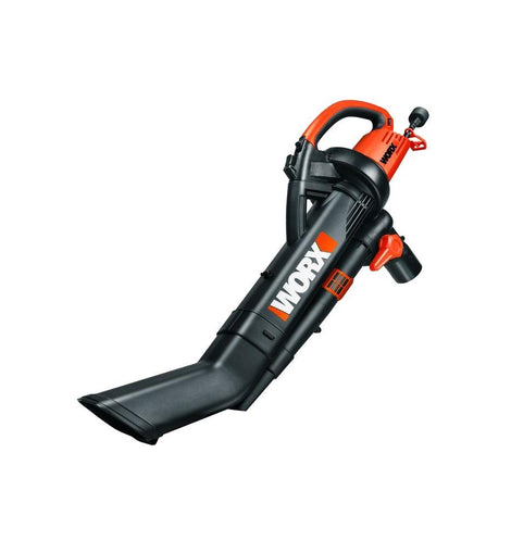 Worx 210 MPH 350 CFM Electric 12 Amp Leaf Blower/Mulcher/Vac with Metal Impeller