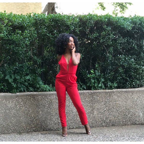 Cali Red Jumpsuit