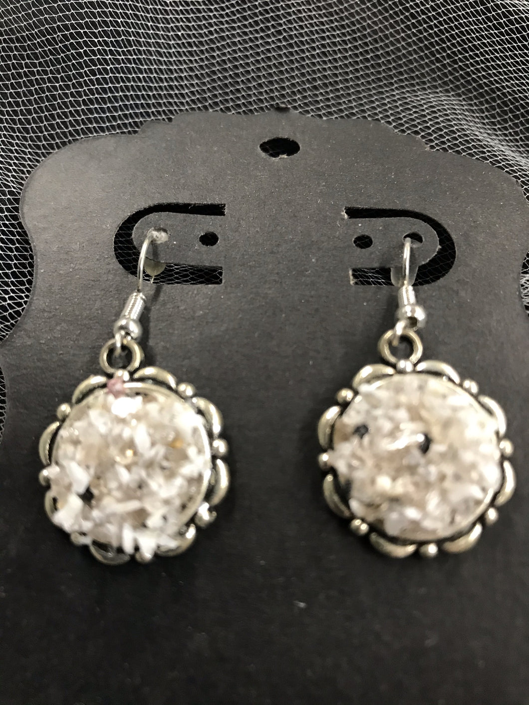 Dangling Earrings w/ Crushed Recycled Granite Mica