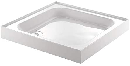Just Trays A100140 White Ultracast 1000 mm Square Shower Tray