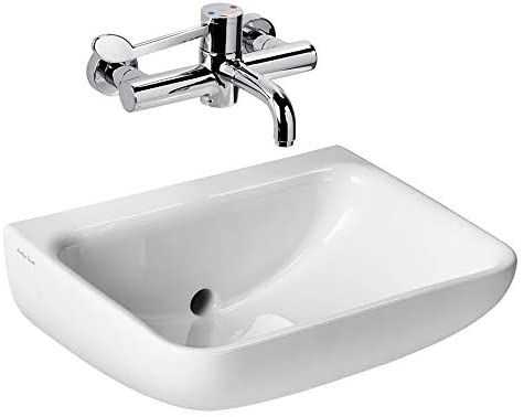 Armitage Shanks S0430HY Contour 21+ 50cm Back Outlet Washbasin No Tap Hole