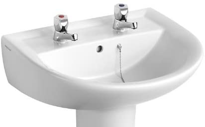 Armitage Shanks E895101 White Sandringham 21 550 mm 2 Taphole Basin