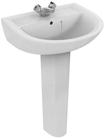 Armitage Shanks E896201 Sandringham 21 Washbasin 55cm, 1TH, with Overflow and Chain Hole