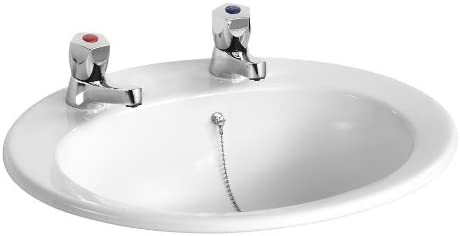 Armitage Shanks E895301 Sandringham 21 500mm 2 Tap Hole Countertop Washbasin