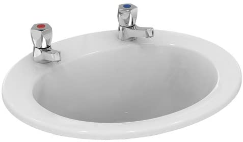 Armitage Shanks E895401 Sandringham 21 500mm 2 Tap Hole Countertop Washbasin - No Chain Hole