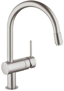 Grohe Minta 32918 DC0 Supersteel 1/2 inch Sink Mixer