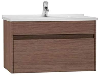 Vitra S50 Furniture Oak 80cm Vanity Unit with Drawer & Basin