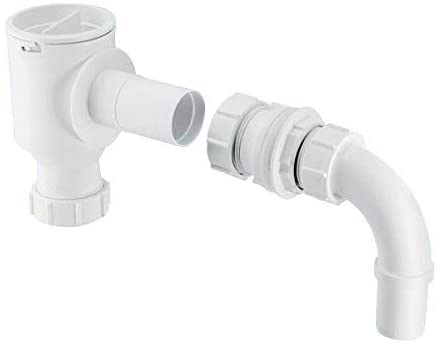 "McAlpine Complete Screened Tank Overflow Connector - Extended 1̴_"" R45E"