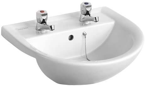 Armitage Shanks E895901 Sandringham 21 500mm 2 Taphole Semi-Countertop Washbasin