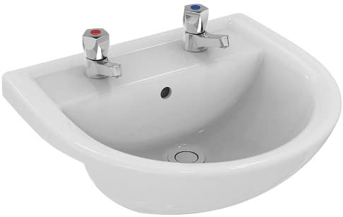 Armitage Shanks E896101 Sandringham 21 500mm 2 Tap Hole Semi Countertop Washbasin