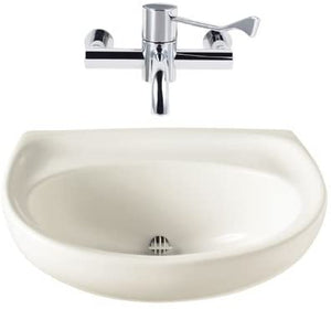 Twyford SA4280WH White Sola Spectrum 500mm Wash Basin, Tap Not