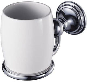 Aqualux 1126171 Chrome Allure Wall Mount Tumbler and Porcelain