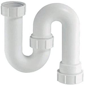 McAlpine SD10 Tubular Swivel 'S' Trap, White