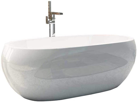 Synergy Pebble 1660mm Modern Double Ended Bath