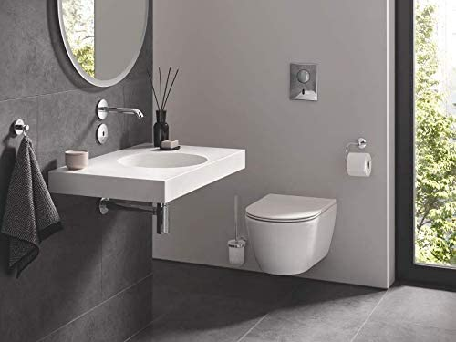 GROHE Essentials Paper Holder with Lid Silver